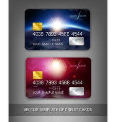 template credit cards with modern design space vector image vector image