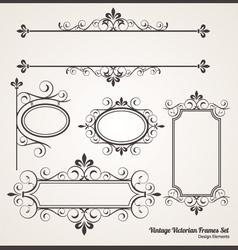 Vintage Victorian Frame set vector image