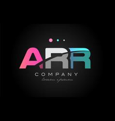 arr a r r three letter logo icon design vector image vector image
