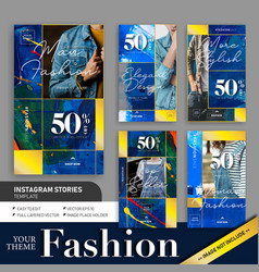 Abstract colorful fashion sale instagram story vector