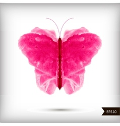 Abstract watercolor butterfly vector image