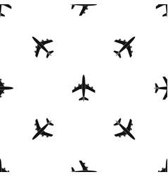 airplane pattern seamless black vector image
