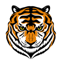 Angry tiger sign vector