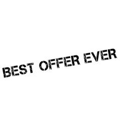 Best Offer Ever rubber stamp vector