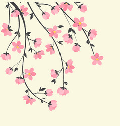 branches with flowers vector image
