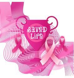 breast cancer awareness month pink ribbon symbol vector image
