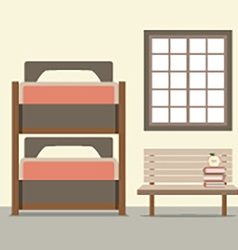 Bunk Bed With Wooden Chair vector