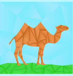 camel polygonal origami like vector image