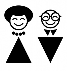 cartoon man and woman vector image