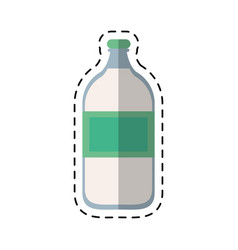 cartoon mineral water bottle fresh vector image