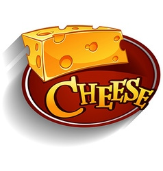 Cheese lofo with text vector image