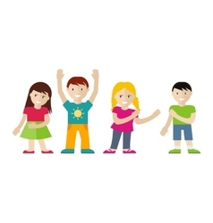 Children Set in Flat Style vector image