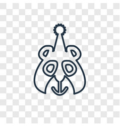 circus bear concept linear icon isolated on vector image