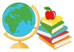 Classroom books cartoon vector