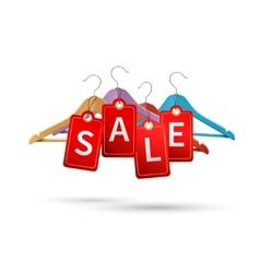 Clothes hanger sale labels vector