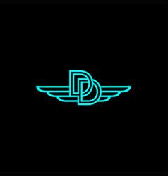 dd wing logo vector image