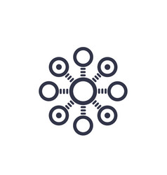 decentralization concept icon vector image