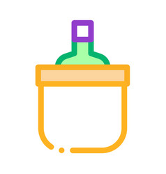Drink bottle in cooling bucket icon outline vector