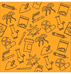 Drugs icon pattern vector image