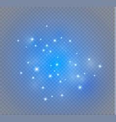 Dust on a transparent backgroundbright starsthe vector