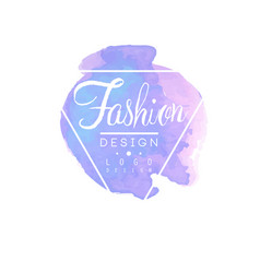 fashion logo design badge for clothes boutique or vector image