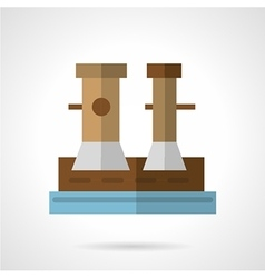 Flat icon for marine bollard vector