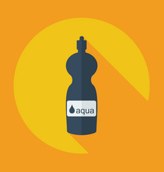 Flat modern design with shadow sports water bottle vector