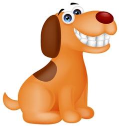 Funny puppy cartoon vector