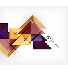 Geometric Template For Brochure Booklet vector