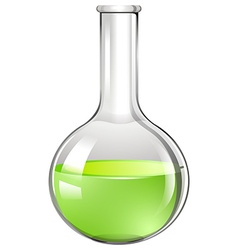 Green liquid in glass tube vector