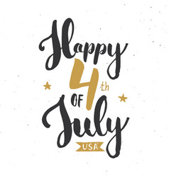 Happy independence day vintage usa greeting card vector