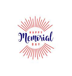 Happy memorial day template design vector