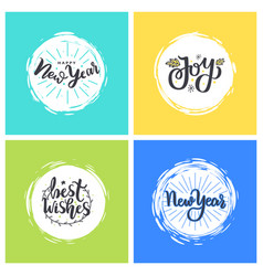 Happy winter days i wish you magic new year fest vector