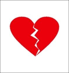 Heart spilt vector