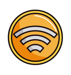 Internet wifi connected shopping or payment mobile vector