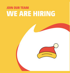 join our team busienss company santa clause cap vector image