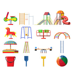 kids playground kindergarten set vector image