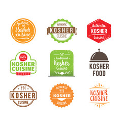 Kosher cuisine label vector