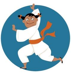 Kung fu girl vector