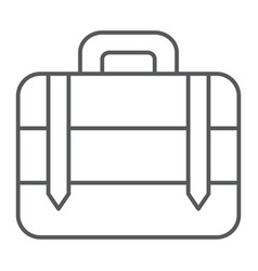 luggage thin line icon bag and baggage suitcase vector image