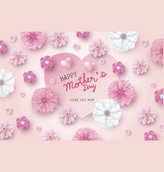 mothers day card concept design vector image