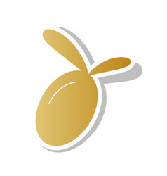 Olive sign golden gradient vector