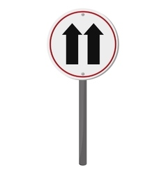 One way traffic sign icon vector
