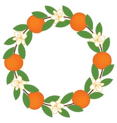 Orange Wreath vector