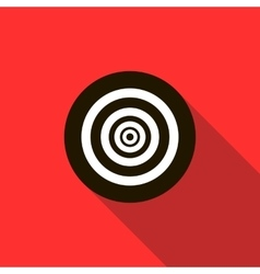Paintball target icon flat style vector image