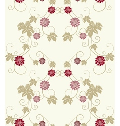Pastel colors floral seamless background vector