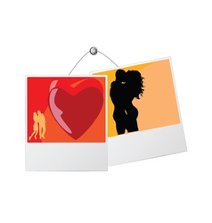photo frame with love couple vector image