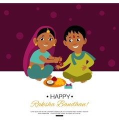 Raksha Bandhan Indian traditional holiday poster vector