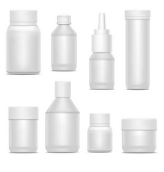 realistic template blank white plastic bottle pack vector image