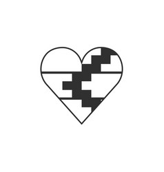 Republic of artsakh flag icon in a heart shape vector